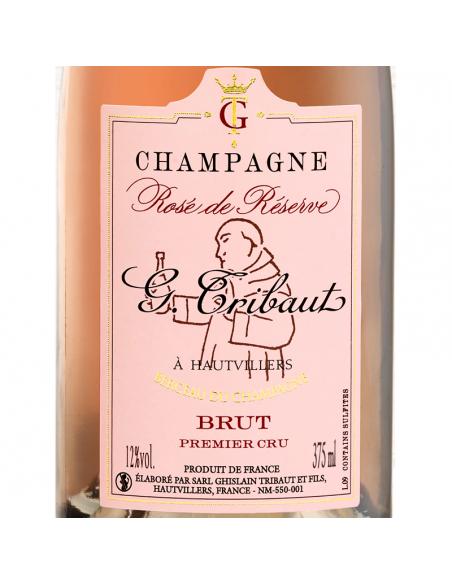 Étiquette Demi-bouteille Rosée de réserve